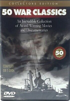 50 War Classics Movies and Documentaries Collectors Edition New DVD 50 Hours