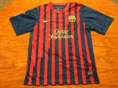 16a4a7b3d Mens Authentic Nike Dri Fit Lionel Messi Fc Barcelona Soccer Jersey Size  Small