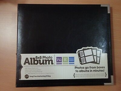 8x8 WeR Memory Keepers D-ring album NEW BLACK with 10 inserts