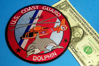U. S. COAST GUARD PATCH, USCG Patch HH-65 Helicopter Smiling Dolphin VERY FUN