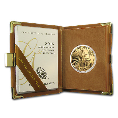 2015-W 1 oz Proof Gold American Eagle (w/Box & COA) - SKU #88358