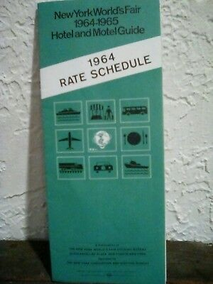 Vintage New York World's Fair Hotel and Motel Guide 1964-1965 Rate Schedule