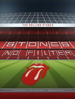 Official Rolling Stones MANCHESTER UNITED No Filter Lithograph Poster soccer