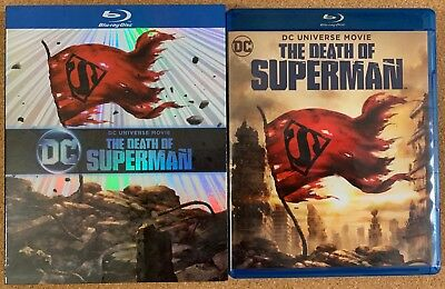 Dc Comics The Death Of Superman Blu Ray Dvd 2 Dic Set Exclusive Slipcover Sleeve
