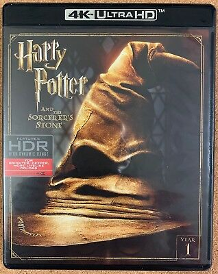 Harry Potter And The Sorcerers Stone 4K Ultra Hd Blu Ray 3 Disc Set Free Shippin