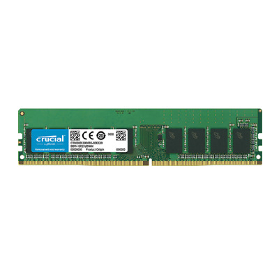 Crucial 16GB (1x16GB) DDR4 2666MHz ECC Unbuffered UDIMM CL17 Memory Ram