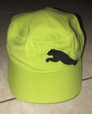 Womens Puma Hat Cadet Military Style Adjustable Golf Cobra Lime Green Black c9fdfe05ac2