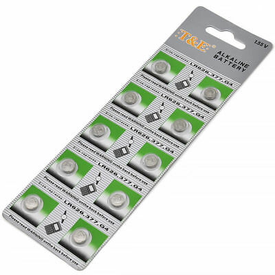 AG4 377A 377 LR626 SR626SW SR66 LR66 376 Alkaline Button Cell Watch Battery Lot