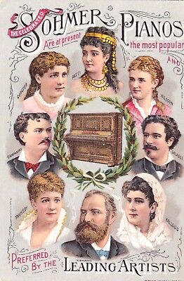 "Vintage Victorian Antique Trade Card ""Sohmer Pianos & Co."" Mint Condition.*"
