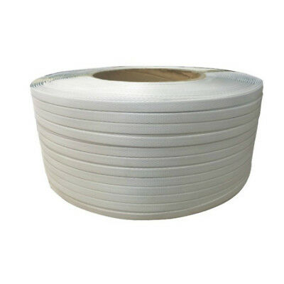 12mm x 3000m White Poly Strap Strapping Polypropylene Packing Heavy Duty Machine