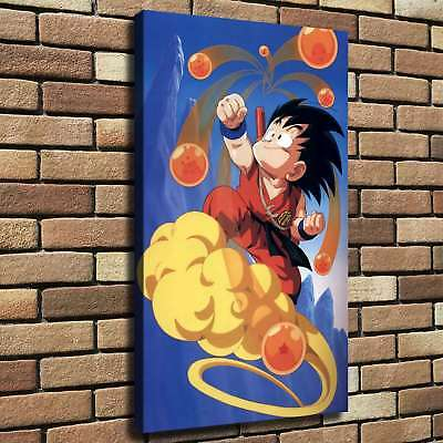 "12""x20"" Dragon Ball Goku HD Canvas Print Painting Home Decor room Wall Picture"
