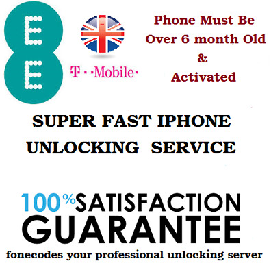 Unlocking Service Iphone 4 5 6 7 8 Ee T-Mobile Uk Unlock Code Over 6 Month