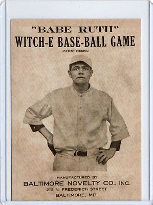 Babe Ruth WITCH- E BASEBALL REDEMPTION CARD New York Yankees / RP