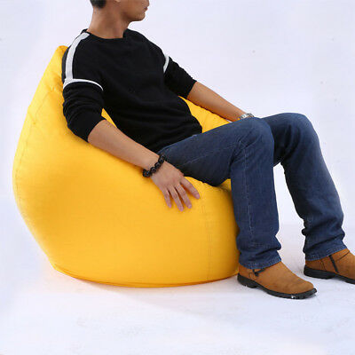 UK Lounge Bean Bag Home Soft Lazy Sofa Cozy Single Chair Seat Durable Furniture