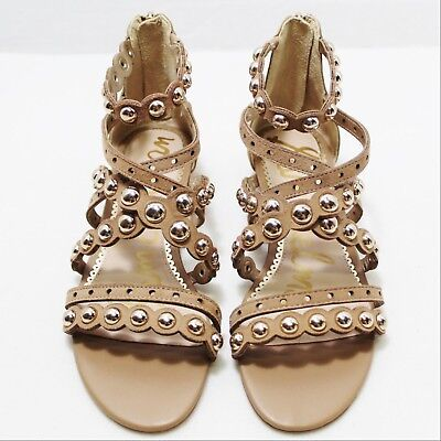 7e4e2cfc6 Sam Edelman womens dustee suede gladiator sandals size 7 leather wedge  studded