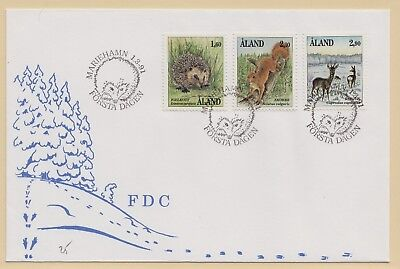 ALAND FDC Scott # 37, 46, 50 Mammals - pencil # front (1 First Day Cover)