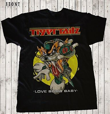 TIGERTAILZ-Love Bomb Baby-Glam Metal Band, BLACK  T-shirt Sizes S to 7XL