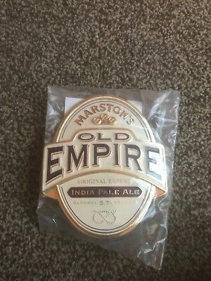Marston's Old Empire IPA Beer Pump Clip Breweriana Brand New Free Fast P+P