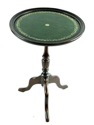 Antique Georgian Style Mahogany Leather Top Wine Table - FREE Shipping [P4888]