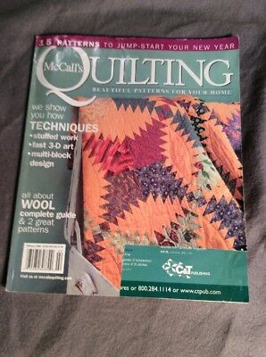 LOT OF 5 McCALL'S QUICK QUILTS MAGAZINES SEPT , NOV  2006 JAN