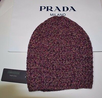 c885598f87c BNWT Beautiful Designer PRADA Ladies Wool   Cashmere Knit Beanie Hat M ITALY