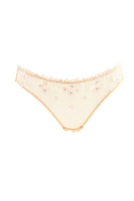 Agent Provocateur Womens Mesh Brief Floral Sheer Beige Size AP 3