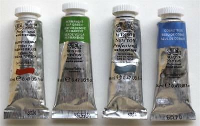 Winsor & Newton Professional Watercolour 14ml x 4 Unused