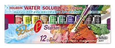 Holbein Duo DU911 Aqua Water-Soluble Oil Color 12 colors Starter set F/S