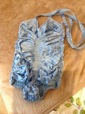 Vintage Undergarment Swimming Costume? Blue Satin Elasticated 1930s/1940s?