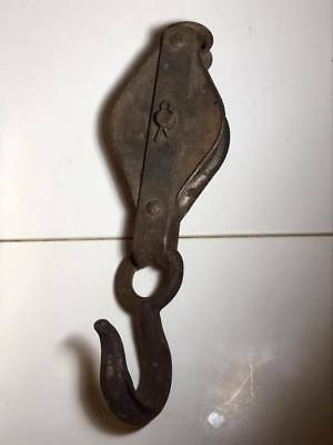 Vintage Metal Pulley and Hook