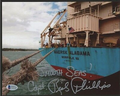 CAPTAIN RICHARD PHILLIPS AFTER PIRATE RESCUE 8X10 PHOTO