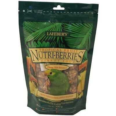 Lafeber NutriBerries Tropical Fruit Complete Parrot Bird Food - 284G