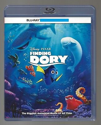 Disney Finding Dory Blu-ray + Blu-ray Bonus Disc + Cover Art + Case Only