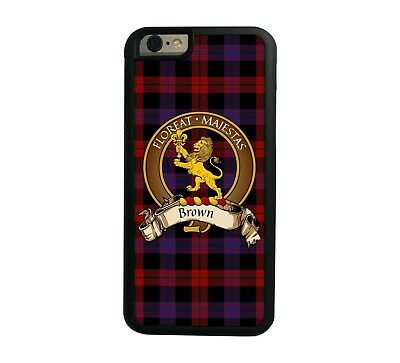 Brown Scottish Clan Tartan Apple iPhone 6  iPhone 6 Plus case