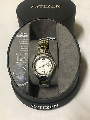FE1144-85B Citizen Dual-Tone Stainless Steel Crystal Accented Women's Watch 448W