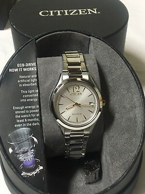 FE6124-51A Citizen Chandler Stainless Steel Women's Eco-Drive Watch    612W
