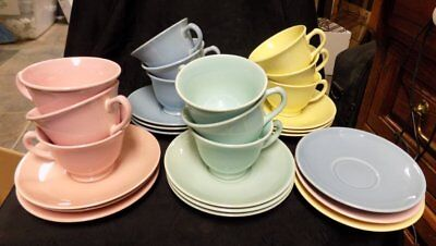 Vintage Luray Pastels~Cups & Saucers~12 Plus~Mixed  Colors~T. S. & T.