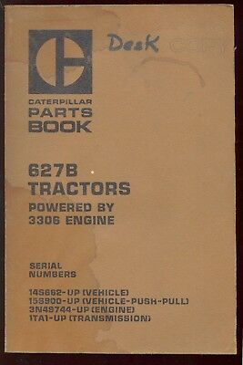 Caterpillar 627 B Tractor Parts Manual Book SEBP1146 SN 14S662 & 15S900 Up C1980