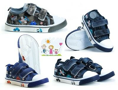 Boys BABY Toddler canvas shoes trainers size 3 - 7 UK NEW BOY FIRST SHOES!