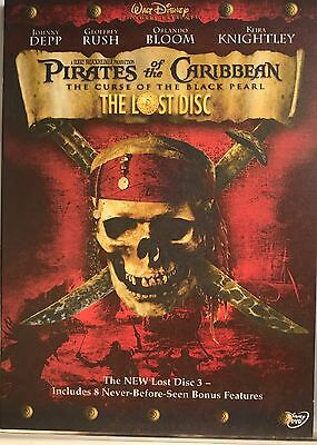 Pirates of the Caribbean: The Lost Disc (DVD) Depp *Very Good* *Free Shipping*