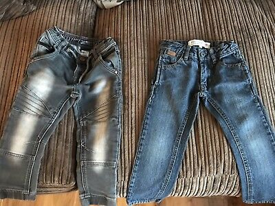 Boys jeans X2 Next & Firetrap Age 2-3 Years Multibuy