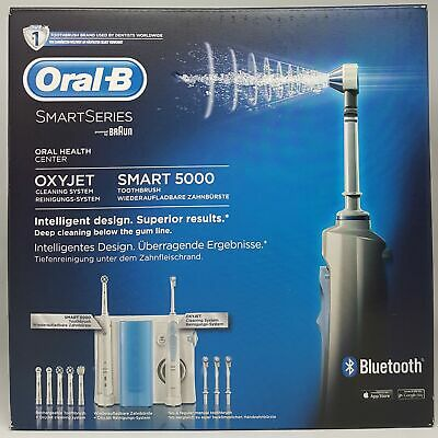 Oral-B Oral Care Center Smart 5000 Electric Toothbrush Oxyjet Mouth Rinser New
