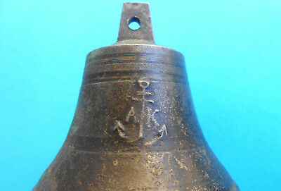 """1800's BEAUTIFULL ANTIQUE BRASS SHIP'S BELL - size 3.1"""" x 3.3"""" - PERFECT WORKING"""
