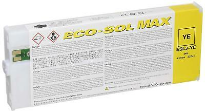 Roland Eco Sol Max New Sealed 220 YELLOW FreeShipping In USA