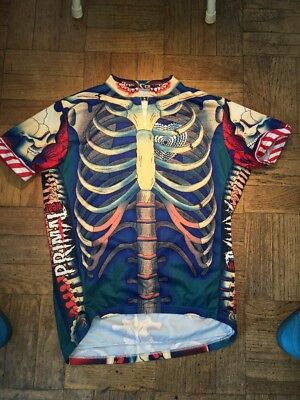 f4f5e1a09 Primal Wear Bone Collector Blue Skeleton Cycling Jersey Mens + Sox bike  bicycle