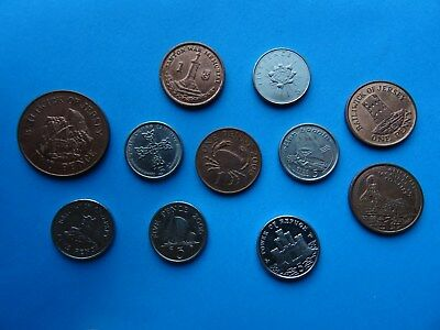 Gibraltar Jersey Guernsey & Isle of Man coins 1 - 5 p British coins of Europe