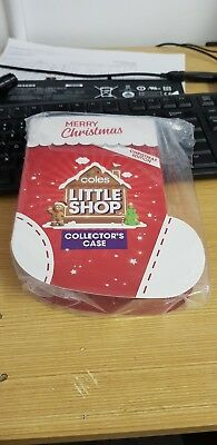 **Coles Little Shop Christmas Edition** Brand New Complete Set All 5 Minis+Case