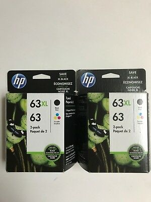 """HP Genuine 63XL Black + 63 Color 'Brand New' """" 2 Packages """""""