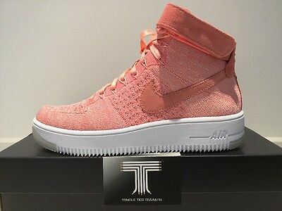best website 77ce3 44e62 Nike AF1 Air Force 1 Flyknit ~ 818018 802 ~ U.K. Size 6.5 ~ Euro 40.5