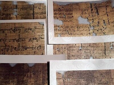 3Rd Century Amherst Papyrus 12  - Epistle To The Hebrews 1:1   New